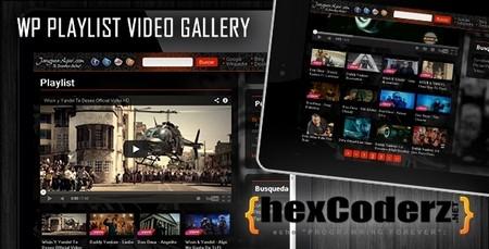 افزونه ساخت گالری پخش ویدیو WP Playlist Video Gallery