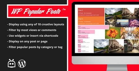 افزونه نمایش پست های محبوب در وردپرس WP Popular Posts Pro