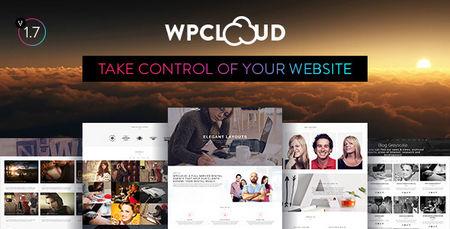 دانلود تک صفحه ای و خلاقانه WPCLOUD برای وردپرس