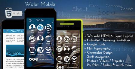 دانلود قالب شخصی Water Mobile به صورت HTML