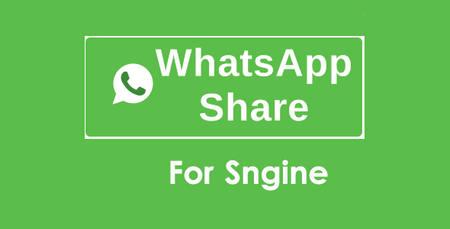 افزونه ارسال پست ها به پیام رسان WhatsApp برای Sngine