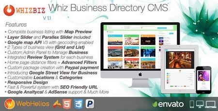 اسکریپت مدیریت محتوا دایرکتوری WhizBiz برای کسب و کار
