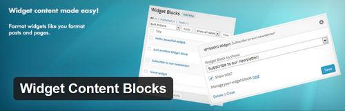 افزونه مدیریت ابزارک های وردپرس Widget Content Blocks