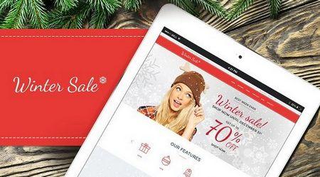 پوسته وردپرس برای فروش محصولات دارای تخفیفات مناسبتی Winter Sale
