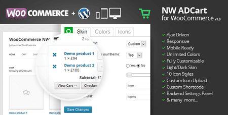 افزونه منوی سبد خرید ووکامرس Ajax Drop Down Cart نسخه ۱٫۳٫۶