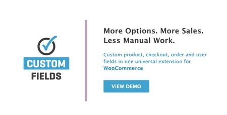 افزونه ایجاد زمینه های سفارشی در ووکامرس WooCommerce Custom Fields