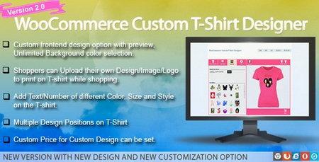 افزونه طراحی و سفارشی سازی تی شرت در ووکامرس Custom T Shirt Designer نسخه 2.0.8