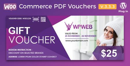 افزونه کوپن تخفیف برای ووکامرس WooCommerce PDF Vouchers نسخه 3.5.0