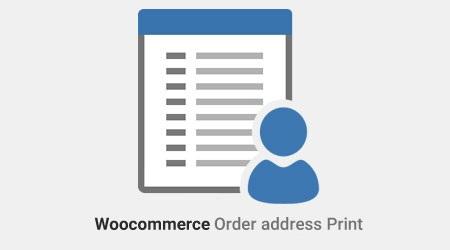 افزونه چاپ آدرس سفارش مشتریان ووکامرس Woocommerce Order address Print