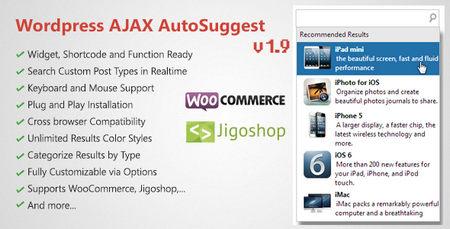 افزونه وردپرس جستجوگر آژاکس و پیشنهاد دهنده AJAX Search & AutoSuggest