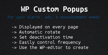 افزونه پاپ آپ برای وردپرس با Wordpress Custom Popups