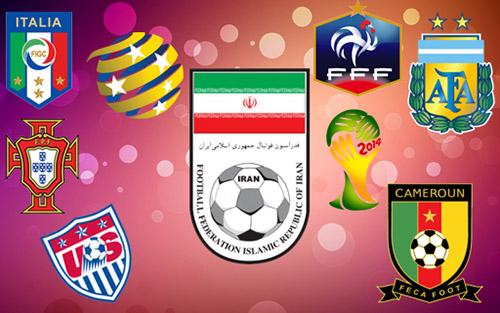 مجموعه آیکون جام جهانی ۲۰۱۴ برزیل و آرم تیم کشور ها