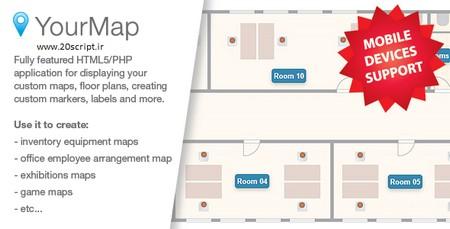 اسکریپت نمایش راهنمای چیدمان نقشه ها Your Map
