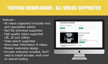 اسکریپت دانلودر ویدیوهای یوتیوب Youtube Downloader