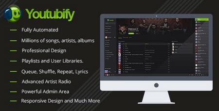 اسکریپت راه اندازی سایت موزیک با موتور یوتیوب Youtubify نسخه 1.4
