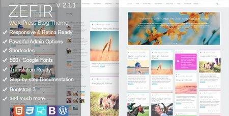 دانلود قالب وبلاگی Zefir نسخه 2.0 برای وردپرس
