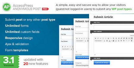 ارسال پست توسط کاربران در وردپرس با افزونه AccessPress Anonymous Post Pro