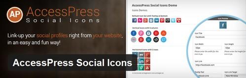 افزونه وردپرس اشتراک گذاری مطالب AccessPress Social Icons