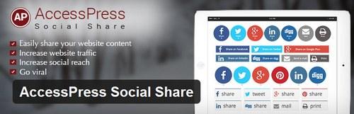 افزونه اشتراک گذاری مطالب سایت AccessPress Social Share