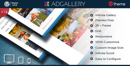 افزونه ایجاد گالری عکس در وردپرس AD Gallery