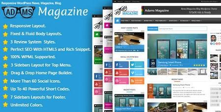 دانلود پوسته وردپرس مجله خبری آدامس Adams فارسی نسخه 1.2.0