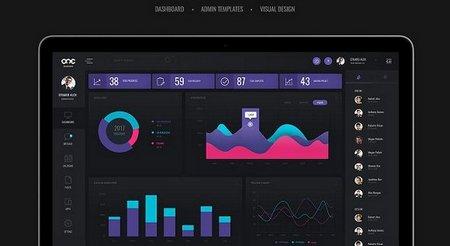 دانلود عناصر طراحی داشبورد مدیریت Admin Dashboard UI Kit