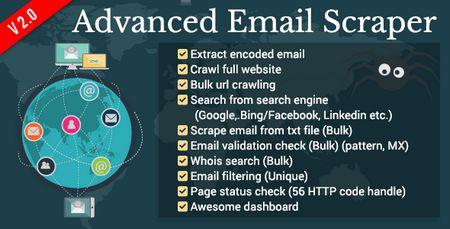 اسکریپت استخراج کننده ایمیل Advanced Email Scraper نسخه 1.1