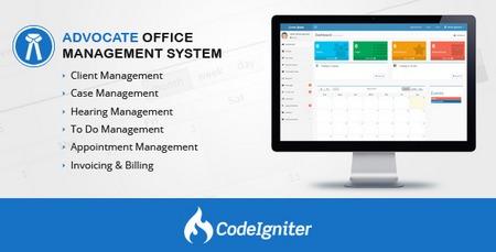 اسکریپت سیستم مدیریت دفتر کار وکلا Advocate نسخه 1.3