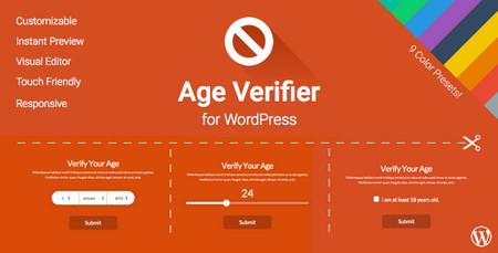 افزونه تایید سن در وردپرس Age Verifier