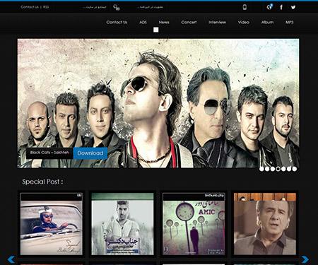 ahuramusic دانلود قالب سایت اهورا موزیک برای وردپرس