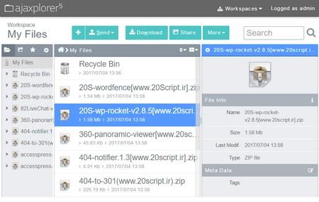 اسکریپت مدیریت فایل Ajaxplorer