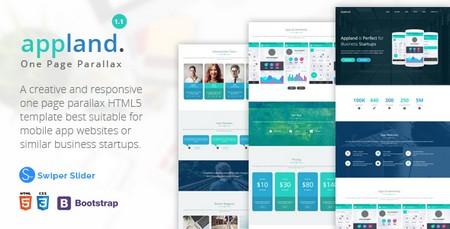 قالب HTML برنامه نویسی و معرفی اپلیکیشن AppLand