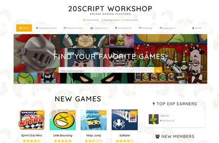 اسکریپت راه اندازی سایت بازی آنلاین Arcadia