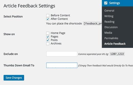 افزونه وردپرس نحوه دریافت بازخورد سریع از کاربران Article Feedback