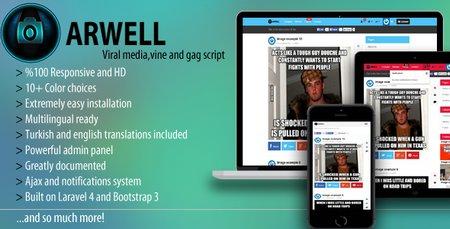 اسکریپت اشتراک گذاری چند رسانه ای Arwell نسخه ۱٫۶