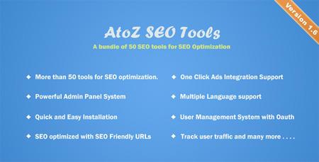 اسکریپت بررسی وضعیت سئو AtoZ SEO Tools نسخه 2.0