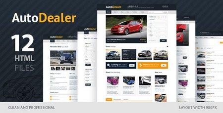 دانلود قالب HTML فروشگاه اتومبیل Auto Dealer