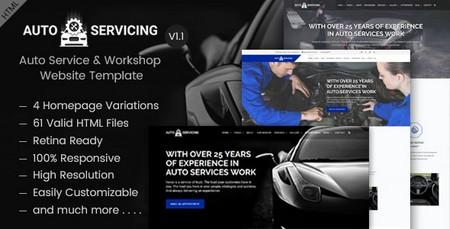 دانلود قالب HTML تعمیرگاه و خدمات اتومبیل AutoServicing