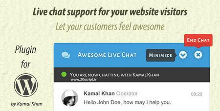 افزونه چت و پشتیبانی آنلاین Awesome Live Chat برای وردپرس