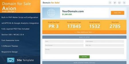 قالب HTML فروش و پیشنهاد قیمت دامنه Axion