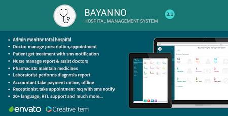 دانلود اسکریپت سیستم مدیریت بیمارستان Bayanno Hospital نسخه 3.1