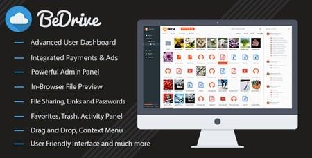 اسکریپت آپلود سنتر و اشتراک گذاری فایل BeDrive نسخه 1.9.2