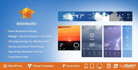 افزونه وردپرس نمایشگر وضعیت آب و هوا Better Weather