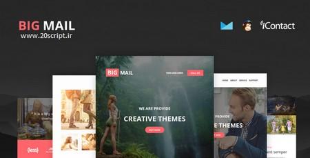 قالب HTML ایمیل و خبرنامه Big Mail با قابلیت صفحه ساز آنلاین