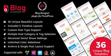 افزونه ساخت بخش وبلاگی در وردپرس Blog Designer PRO