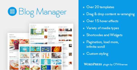 افزونه مدیریت بخش وبلاگ وردپرس Blog Manager