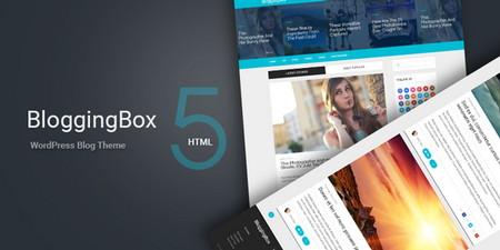 قالب وبلاگی و چندمنظوره BloggingBox برای وردپرس