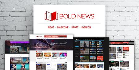 دانلود پوسته مجله خبری وردپرس بولد نیوز Bold News
