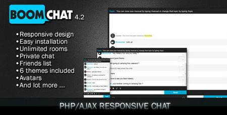 اسکریپت ایجکس ایجاد چت روم BoomChat نسخه 4.2