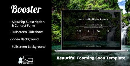 قالب HTML صفحه در دست ساخت Booster